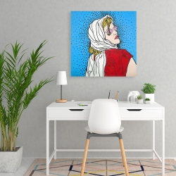 Canvas 24 x 24 - Pop art woman