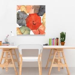 Canvas 24 x 24 - The umbrellas of petit champlain