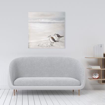 Two sandpipiers birds