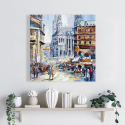 Canvas 24 x 24 - Busy street by a sunny day 1