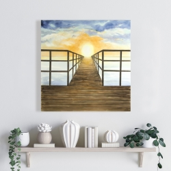 Canvas 24 x 24 - Sunset in the sea