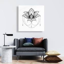 Canvas 24 x 24 - Ethnic lotus ornament