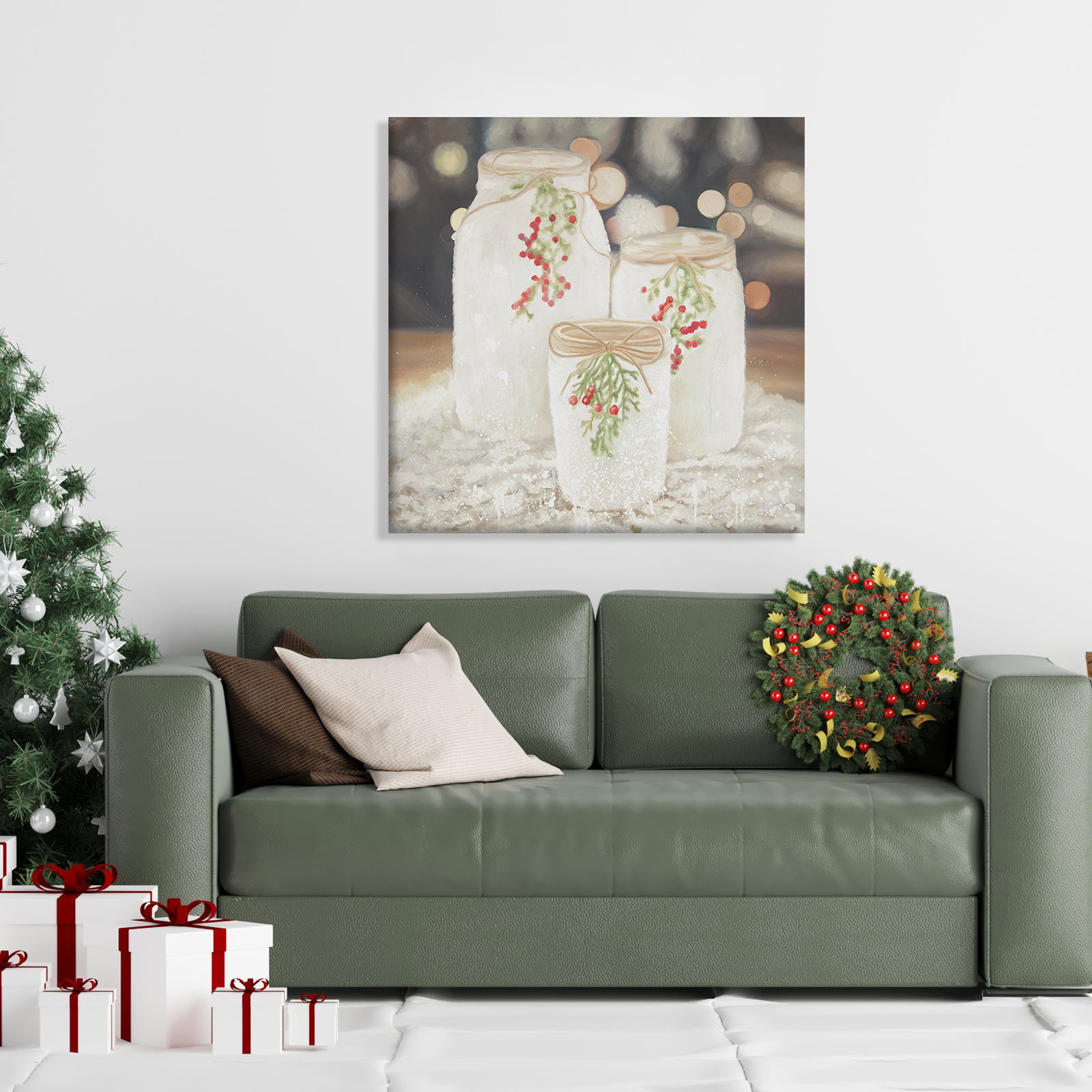 Canvas 24 x 24 - Christmas candles