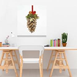 Canvas 24 x 24 - Christmas pine cone