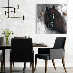 Canvas 24 x 24 - Dark brown horse