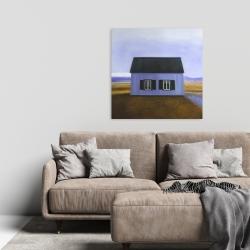 Canvas 24 x 24 - Blue barn