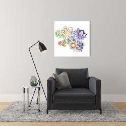 Toile 24 x 24 - Paisley aquarelle
