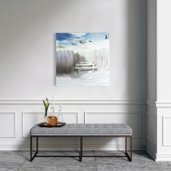 Canvas 24 x 24 - Break at the beach