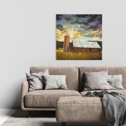 Canvas 24 x 24 - Hay barn
