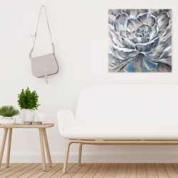 Canvas 24 x 24 - Gray and blue flower