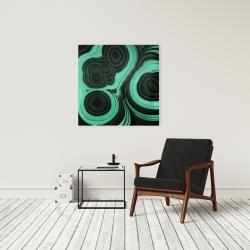 Canvas 24 x 24 - Malachite stone