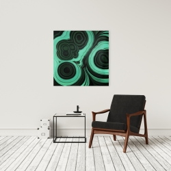 Canvas 24 x 24 - Malachite stone