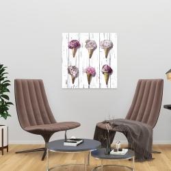 Canvas 24 x 24 - Peony cones