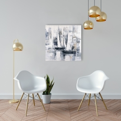 Canvas 24 x 24 - Industrial style sailboats