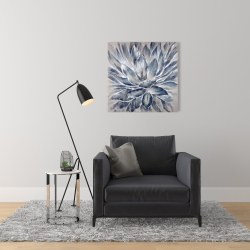 Canvas 24 x 24 - Blue and gray flower