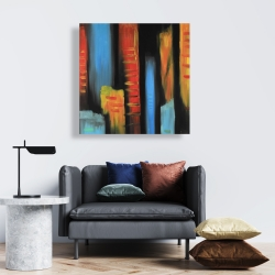 Canvas 24 x 24 - Abstract and colorful tall buildings