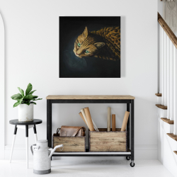 Canvas 24 x 24 - Bengal cat
