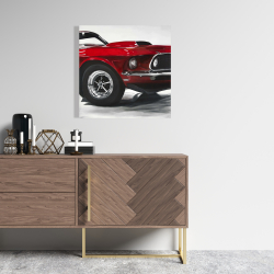 Canvas 24 x 24 - Classic red car