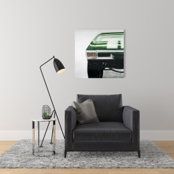 Canvas 24 x 24 - Classic dark green car