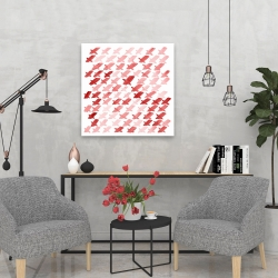 Canvas 24 x 24 - X red pattern