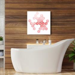 Canvas 24 x 24 - Alveoli red