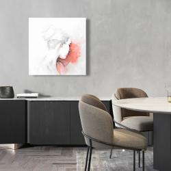 Canvas 24 x 24 - Pastel woman