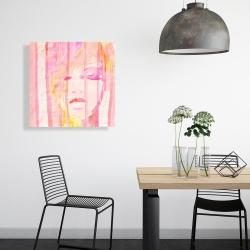 Canvas 24 x 24 - Abstract portrait feminine