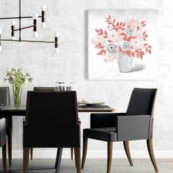Canvas 24 x 24 - Coral flower illustration