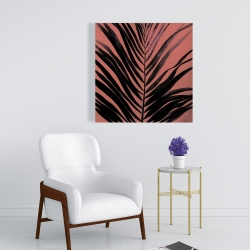 Canvas 24 x 24 - Coral tropical palm leave