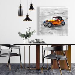 Yellow vintage car toy