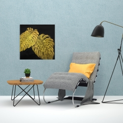 Canvas 24 x 24 - Gold monstera