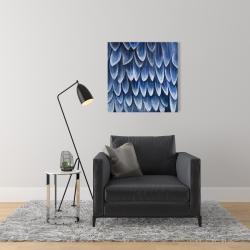 Canvas 24 x 24 - Plumage blue