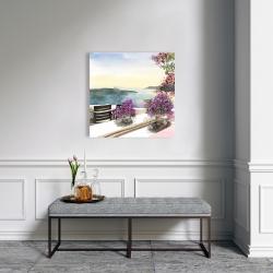 Canvas 24 x 24 - Mediterranean sea view