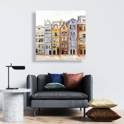 Canvas 24 x 24 - Amsterdam houses hotel