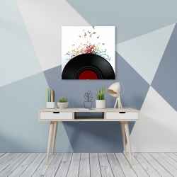 Canvas 24 x 24 - Notes from a vinyl record