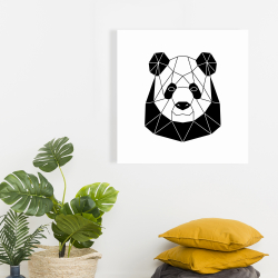 Canvas 24 x 24 - Geometric panda