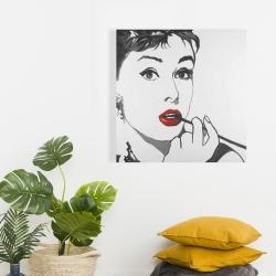 Canvas 24 x 24 - Audrey hepburn outline style