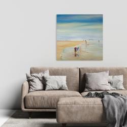 Canvas 24 x 24 - Children at the beach