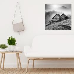 Canvas 24 x 24 - Mountain carpathian village