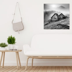 Canvas 24 x 24 - Mountain carpathian village