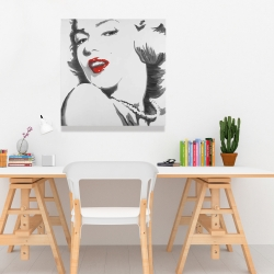 Canvas 24 x 24 - Marilyn monroe outline style