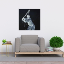 Canvas 24 x 24 - Baseball player