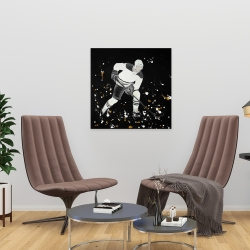 Canvas 24 x 24 - Hockey player in action