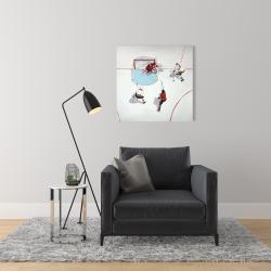 Canvas 24 x 24 - Eventful hockey game