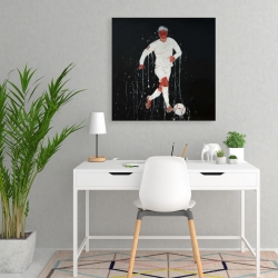 Canvas 24 x 24 - Soccer player