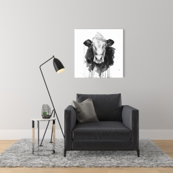 Canvas 24 x 24 - Cow
