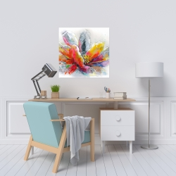 Canvas 24 x 24 - Abstract flower with texture