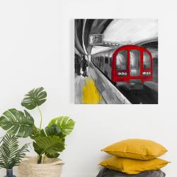 Toile 24 x 24 - Attente du métro