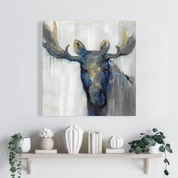 Canvas 24 x 24 - Blue moose