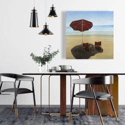 Canvas 24 x 24 - Relax at the beach